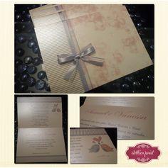 Convite para Bodas de Estanho / casamento - Atellier Print.