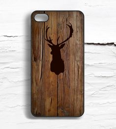 Stag Wood Pattern iPhone Case