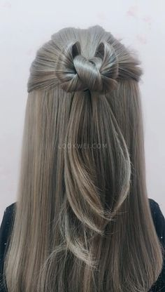 It's easy to learn hairstyle. try it. It's beautiful - Hair - Hochzeitsfrisuren-braided wedding updo-Wedding Hairstyles Box Braids Hairstyles, Cool Hairstyles, Easy Short Hairstyles, Elvish Hairstyles, Hairstyles For Medium Length Hair Easy, Blonde Hairstyles, Layered Hairstyles, Casual Hairstyles, Bow Hairstyle Tutorial