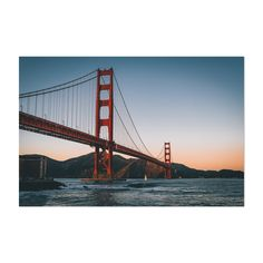 San Francisco Bay GOLDEN GATE BRIDGE in Fog Glossy 8x10 Photo Print Art Poster