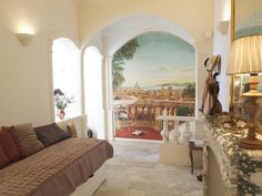 Charming Apartment with a sea view for rent In Old Nice. The apartment lies in a charming old building in Nice in the heart of the Old Town, two minutes from the beach and just off the flower market. It is filled with french charming details and decoration. #interior #france #Nice #oldtown #seaview #decor #chandelier #WallPainting #antique #french #vieuxnice #travel #visitfrance #FrenchRiviera #riviera #CotedAzur #CoursSaleya French Apartment, Visit France, Nice France, Cool Apartments, Old Building, Flower Market, Old Town, Old Things, Interior