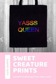 Yasss Queen.This Queer Eye LGBT tote bag is perfect for any Pride events. Click through to view more styles. #queereye #lgbt#jonathanvanness