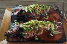Whole Grilled Sea Bass with Asian Aromatics - Barbecuebible.com
