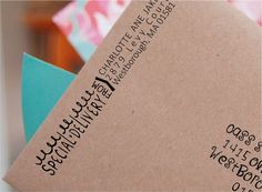 3 Custom Return Address Special Delivery Envelope by ThePrintMint