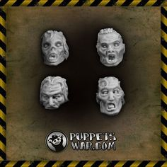With our recent (and upcoming) undead realeases, we would like to show one of our earliest sets - Zombie Heads. Set of eight heads in four variants.  https://puppetswar.eu/product.php?id_product=15