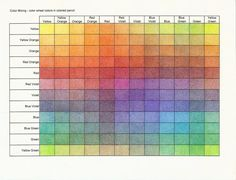 Whether you're working with pencil crayon, acrylic, or watercolor paint, using a color chart is the best way to practice your color mixing, and improve your knowledge with color theory.