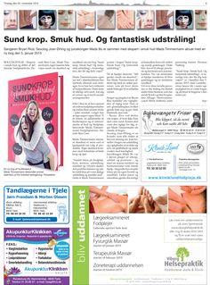 25. November 2014 - Avisen Landsbyerne anmelder Danish Skin Cares bog: Sund Krop Smuk Hud. Og fantastisk udstråling  Læs mere her: www.sundkropsmukhud.dk