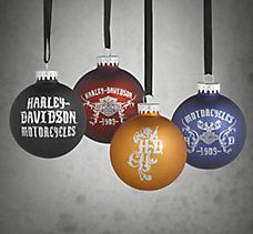 Set of 4 Glass Ball Ornaments
