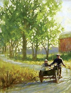 Vintage country afternoon riders