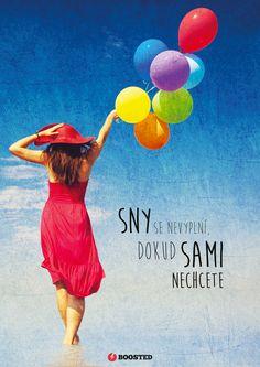Motivační plakát Sny (Česky)