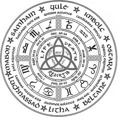 The Witches Wheel of the Year with Many Names Old and New – Astrologie Celtic Symbols, Celtic Art, Celtic Runes, Celtic Mythology, Celtic Dragon, Celtic Paganism, Ancient Symbols, Celtic Mandala, Celtic Circle