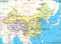 China Map With Major Cities.Map Showing Location Of All Major Cities In China Maps Globes