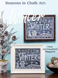Seasons in Chalk Art: Winter from the Jan/Feb 2016 issue of Just CrossStitch Magazine. Order a digital copy here: https://www.anniescatalog.com/detail.html?prod_id=128987