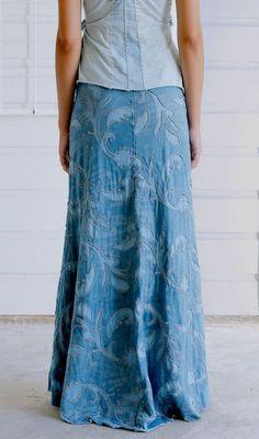 Alabama Chanin - Denim skirt