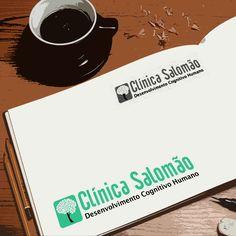 Criação de logotipo para Clínica Salomão por Foco Design & Gráfica.