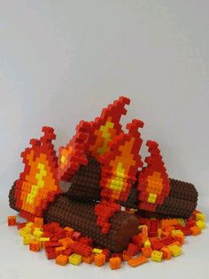 campfire flames Lego @freshgoodies. Visit us for endless Lego Creations!