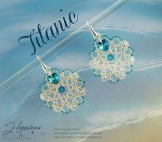 Titanic needle tatting earrings pattern by Happyland87 on Etsy