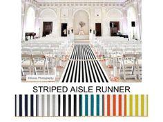 Striped WEDDING AISLE RUNNER, Select Your Length Color, Premier Canopy Stripe, Wedding Aisle Runner, on Etsy, $125.00