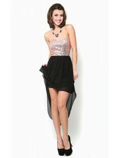 #Sequin Corset High Low #Dress
