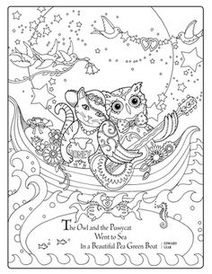 Creative Haven Owls Coloring Book By Marjorie Sarnat Owl And Pussycat