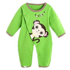 Newborn Baby Boy Rompers Overalls Long Sleeve Infant Jumpsuit Clothing Cotton Monkey Girl Children Pajamas Costumes Outwear #Affiliate