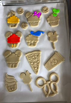 Disney Cupcake Cookie Cutters Cookie Cutters Disney World | Etsy No Bake Cookies, Cupcake Cookies, Cookie Dough, Cookie Cutters, Disney Cupcakes, Disney Snacks, Disney Home, Icing Recipe, Disney Inspired