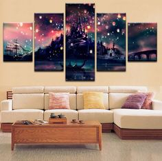 5 Pcs Framed Harry Potter Hogwarts for Home Office Decor Wall Pictures for Living Room/Office Room Piece, Large: Harry Potter Bedroom, Harry Potter Pictures, Canvas Artwork, Canvas 5, Photo Canvas, Canvas Frame, Canvas Art Prints, Living Room Pictures, Wall Pictures