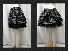 【楽天市場】ゴシック ゴスパンク 合皮ティアード ジップ装飾 フレアーミニスカート蜘蛛黒:PARROT