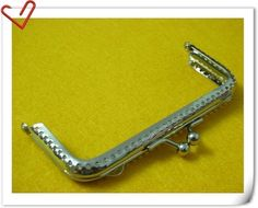 4 inch nickel square purse frame clip clasp with by 3Dpatternpaper, $2.00