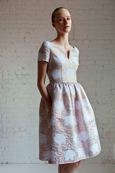 Gorgeous vintage style dress by Barbara Tfank Resort 2014