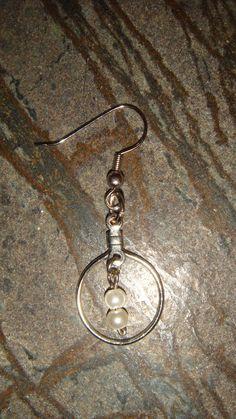 Genuine Fresh Water Pearl Hoop Earrings
