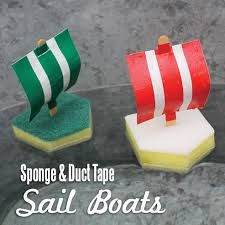 cute quick summer camp craft idea duct tape and sponge viking ships craft ideas