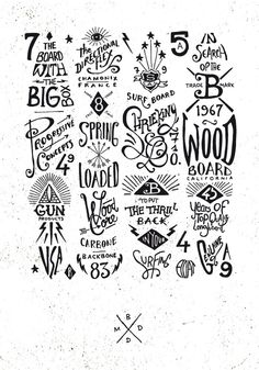 graphic & hand-lettering boards | BMD Design