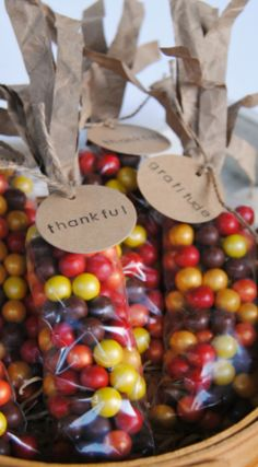 How To Make Indian Corn Thanksgiving Favors ~ Made with Sixlets... Fun favors or…