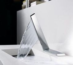 It is so cool having bathroom faucet like this
