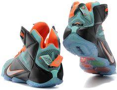 buy popular 39af6 4cead Lebron 12 Jade Blue Orange Black1 Lebron James 12, James Shoes, Nike Lebron,
