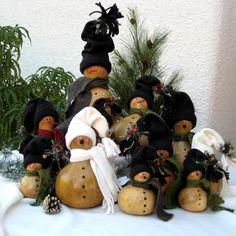 Gourds snowmen