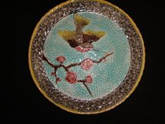 Antique majolica plate