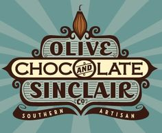 Olive and Sinclair's Chocolate, located in the historic Marathon Village - I LOVE THE LOGO
