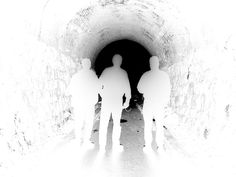"Illustration of ghosts in the RR tunnel, Tunnel Hill, Ga, from the book, ""Ghosts of the Southern Tennessee Valley"" (John F. Blair, 2006)."