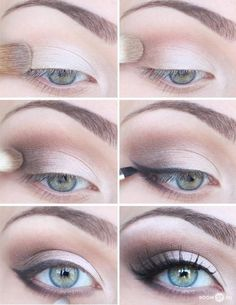 step by step look- i love this light smokey eye
