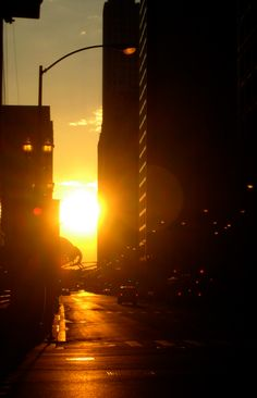 Sunset in Chicago.