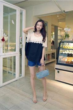 BLUE Korean Loose Top - $10.75 on @ClozetteCo