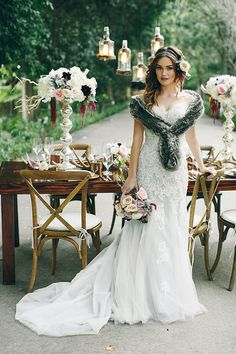 Whimsical Woodland Wedding Inspiration featuring Beryl by David Tutera