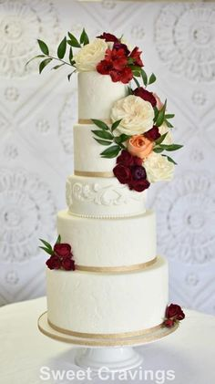 Wedding Cake by mycravings - http://cakesdecor.com/cakes/268708-wedding-cake