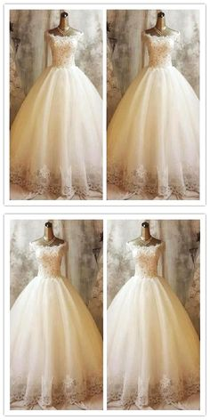 White wedding dress. All brides dream of finding the most suitable wedding, but for this they need the most perfect wedding gown, with the bridesmaid's outfits complimenting the brides-to-be dress. The following are a number of ideas on wedding dresses.
