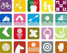 Mexico Olypics Pictograms