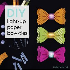 Make your own light-up, flashing bow tie! These easy tech-craft kits make 10 bow ties for just $25! Perfect for your next party.