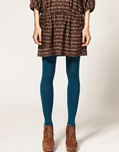 ASOS 80 Denier Teal Tights  $8.06