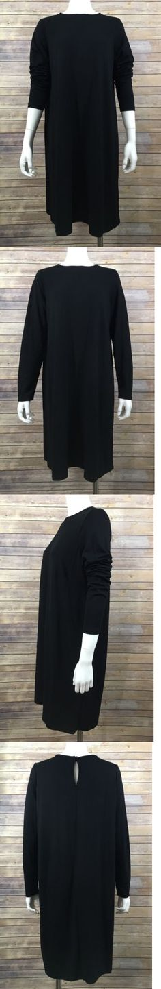 Dresses 11534: Asos Maternity Shirt Dress Us 12 Uk 16 Black Solid Long Sleeve Shift Stretch New -> BUY IT NOW ONLY: $36.8 on eBay!